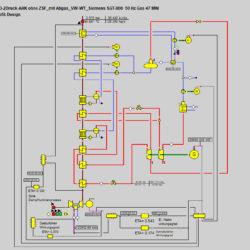 Układ gazowo-parowy, schemat uproszczony